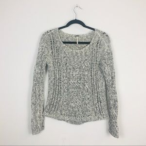 Free People Cable Knit Long Sleeve Sweater